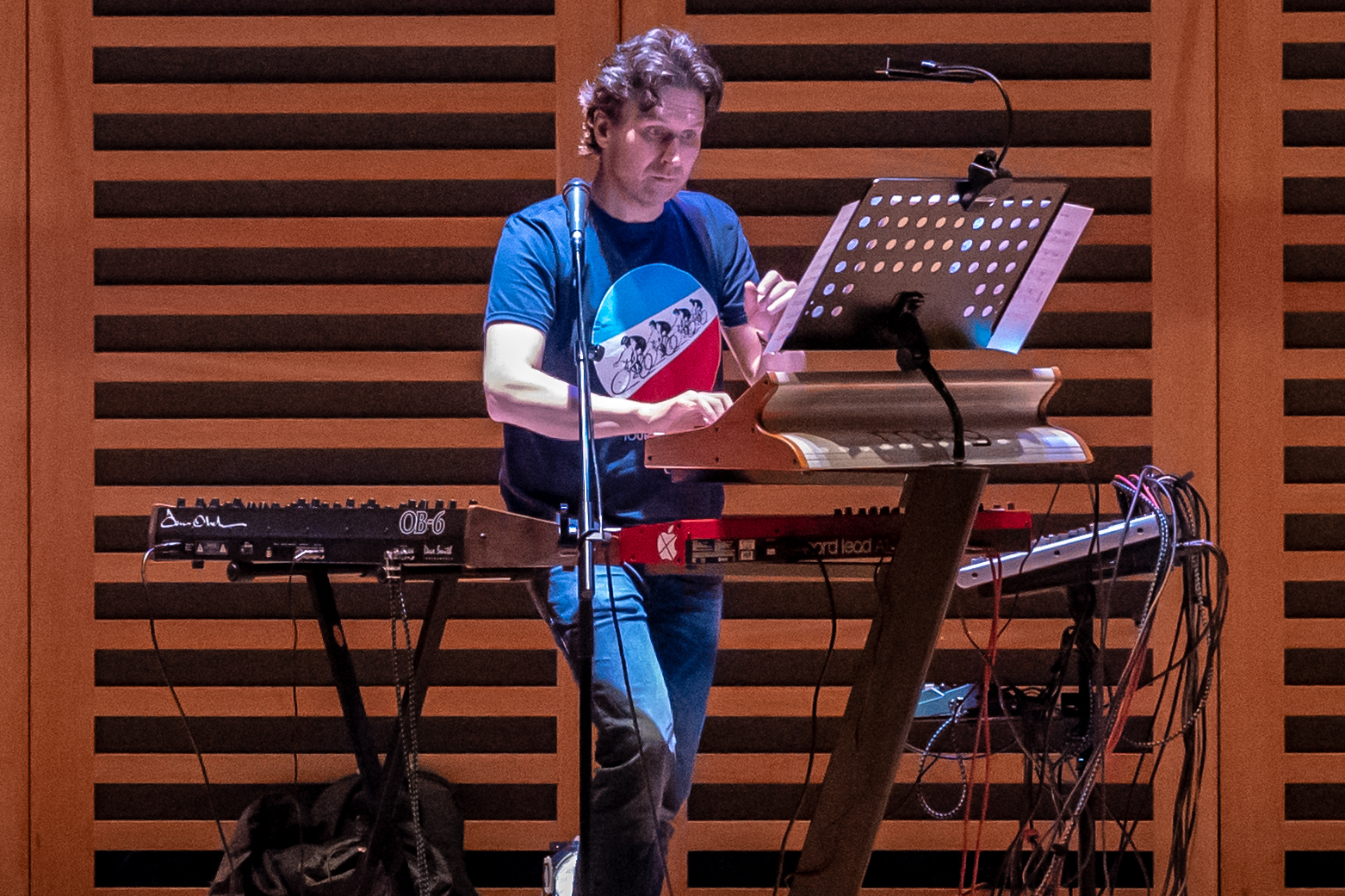 Playing synths at Kings Place