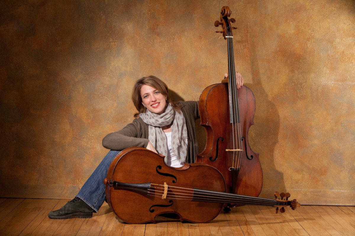 Jennifer Morsches with cellos